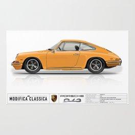 Porsche 1968 912 Bahama Yellow Rug