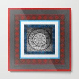 Structure and Financial Abundance Feng Shui Energy Mandala Metal Print