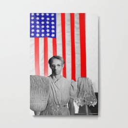 Red White Black And Blue Metal Print