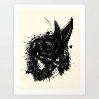 Ropaje de plumas negras / Black feather clothing Art Print