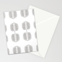TROPICAL PALMS . GRAY + WHITE Stationery Cards