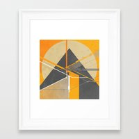 pyramid Framed Art Prints featuring Pyramid by ErDavid