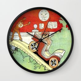 Little Nemo's moonlight ride Wall Clock
