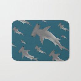 Hammerhead shark school Bath Mat