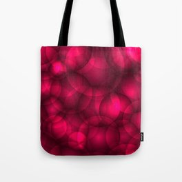 Glowing pink soap circles and volumetric glamorous bubbles of air and water. Tote Bag