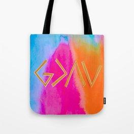 God Is Greater - Tie Dye Tote Bag
