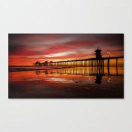 HB Sunsets 11-15-16 Canvas Print