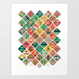 Loteria Geometrica Art Print