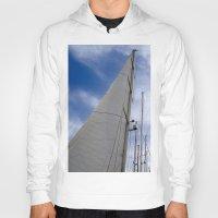 sailing Hoodies featuring sailing by habish
