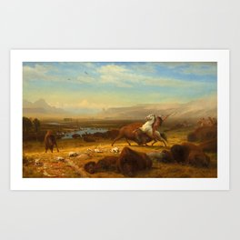 The Last of the Buffalo, by Albert Bierstadt, 1888, American painting Art Print