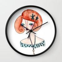 key Wall Clocks featuring Key by Katie Rhianne
