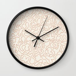 Puzzle Drawing #2 Gold Wall Clock