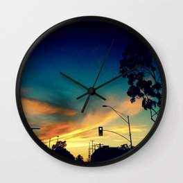 Silhouettes in the Sun Light Wall Clock
