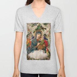 Saints Collection -- Madonna And Child Unisex V-Neck