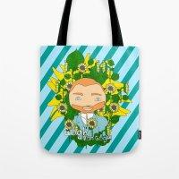 van gogh Tote Bags featuring Gogh, Van Gogh by iso. isodesignworld