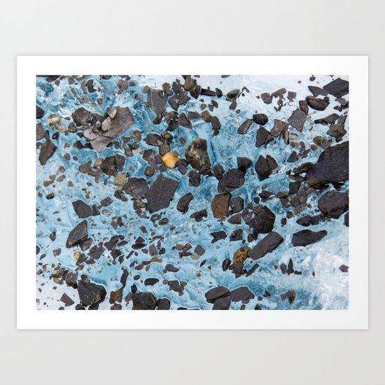 Glacial Gold :: Alaskan Ice Art Print