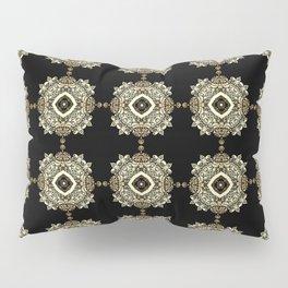 Golden Eastern ornament . Pillow Sham