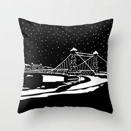 Riegelsville Roebling Bridge Throw Pillow