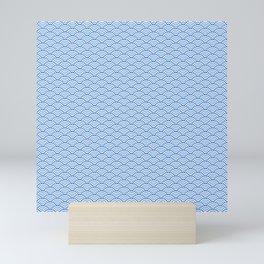 Blue endless clouds Mini Art Print
