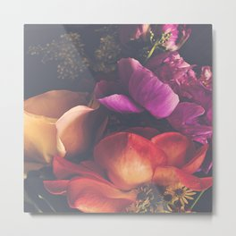 Color Burst Florals Metal Print