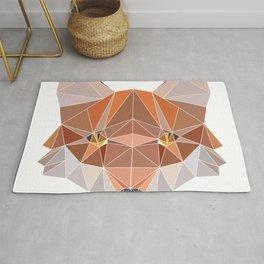Fox Forest Wild Life Animal Design Polygonal T--shirt Design Symmetrical Triangular Mathematics Rug