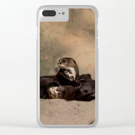 Quiet, please! He is sleeping Clear iPhone Case