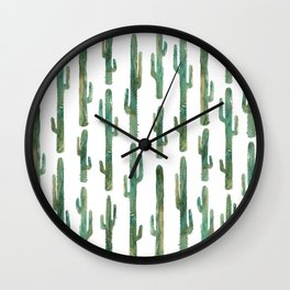 Green Cactus Wall Clock