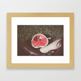 Watermelon legs Framed Art Print