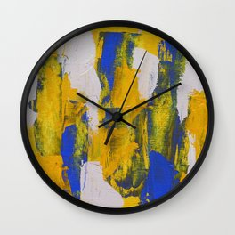 Abstract Expression #10 by Michael Moffa Wall Clock