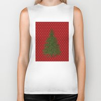 christmas tree Biker Tanks featuring *(Christmas) Tree* by Mr and Mrs Quirynen