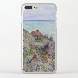 Monet - Cabin of the Customs Watch, 1882 Clear iPhone Case