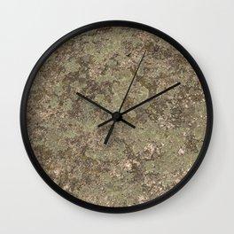 Moss on Stone Hard Texture Wall Clock