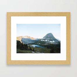 Sunset Over Hidden Lake Framed Art Print