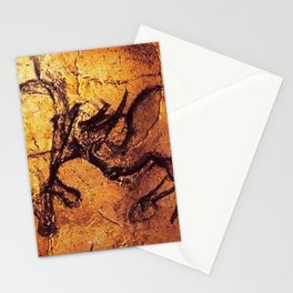 Fighting Rhinos // Chauvet Cave Stationery Cards