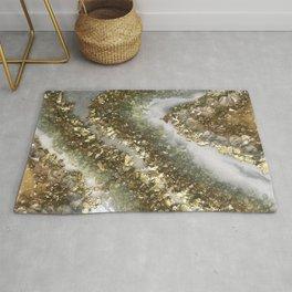 Geode Resin Art Rug