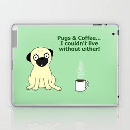 Pugs and Coffee Laptop & iPad Skin