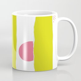 colorful Sulphur Spring + Living Coral stripes and dots Coffee Mug