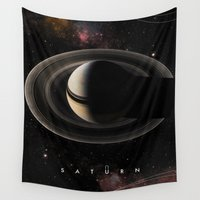 saturn Wall Tapestries featuring SATURN by Alexander Pohl