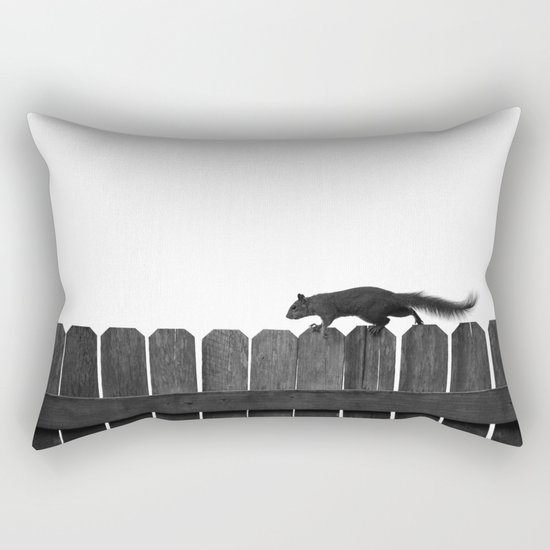 SQUIRREL ON A FENCE Rectangular Pillow