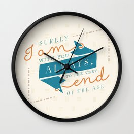 """""""I am with you"""" Bible Verse Print Wall Clock"""