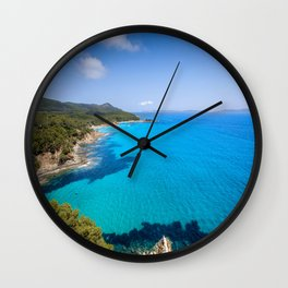 Forever French Riviera Blue Wall Clock