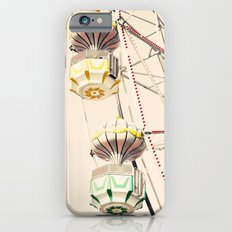 Blue Ferris Wheel on Cream Sky iPhone 6s Slim Case