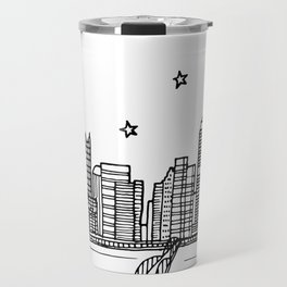 Pittsburgh, Pennsylvania City Skyline Illustration Drawing Travel Mug