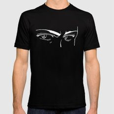 Doubt eyes bw MEDIUM Black Mens Fitted Tee