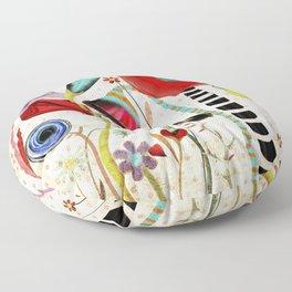 Vintage Rustic Wonderland Flowers Floor Pillow