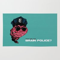 zappa Area & Throw Rugs featuring Who are the Brain Police? by holaf