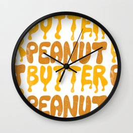 PEANUT BUTTER Wall Clock
