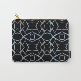 Abstract Blue & Black Design small Carry-All Pouch