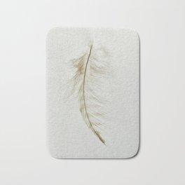 Owl Feather Photograph - Fleeting Bath Mat