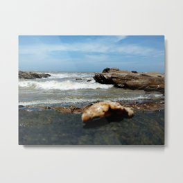 Playa, color, textura. Metal Print